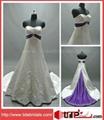 Popular Satin Bridal Gown Embroidery Plus Size Wedding Dress (ZJH301) 4