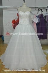 Beaded Tulle Ball gown Lace wedding dress #AS1554