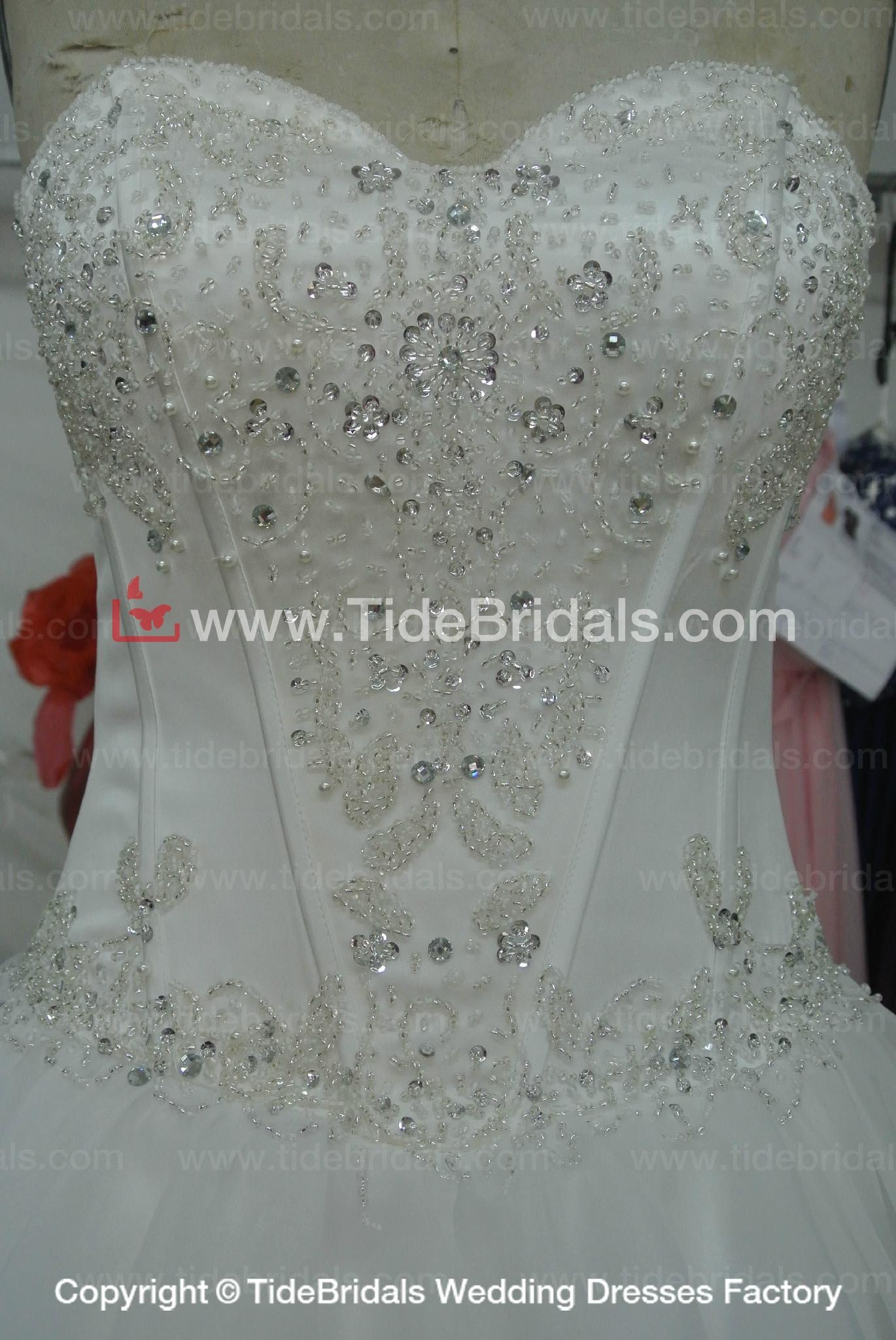 Beaded Tulle Ball gown Lace wedding dress #AS1554 3