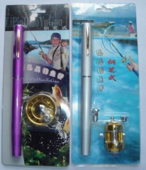 fishing rod with fishing reel