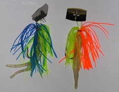 lead jig with stainless steel blade