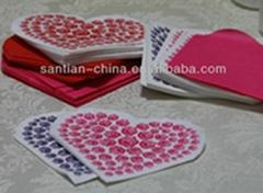 Romantic Heart Shape Decorative Paper Napkins