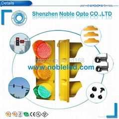 200 mm led traffic light with yellow housing