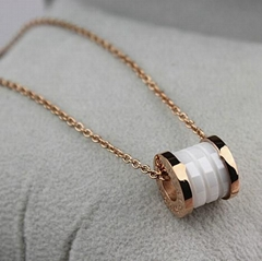 Fashion steel jewelry -BV Ceramic pendant necklace --2014 new fashion