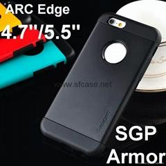 Iphone6/Iphone6 Plus SGP Slim Armor 2in1 TPU+PC Hybrid Protective Case-Arc edge