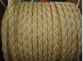 Nylon polyester mooring rope