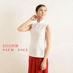 棉麻女茶馆服装