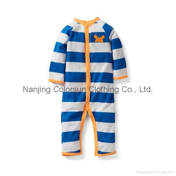 Colorsun 100% Cotton Baby Girl Baby Boy Cotton Coveralls Climbing Clothes 1