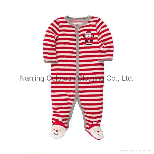 New Design High Quality Custom Cotton Lovely Baby Pyjamas 1