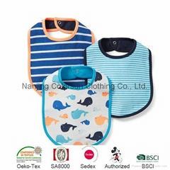 100% Cotton Baby Bib Colorsun 2014 Fashion Baby Wears
