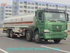 WATER, OIL TANK SINOTRUK 4x2or6x4or8x4  from3 to 45m3 capacity EUROIIorEURO III