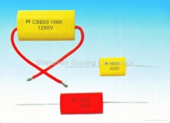 CBB20金属化聚丙烯薄膜轴向电容器(MPA)