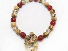 半宝石手链