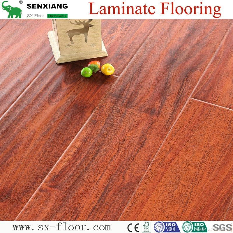 Customizable E1 AC4 Any Color and Surface Effect Waterproof Laminate Flooring 1
