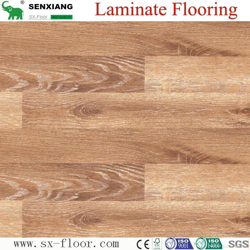 German Technology Hdf Glossy Waterproof Locking Laminated Laminate Flooring 1