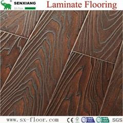 Germany Technology Ac4 Hdf Embossed Waterproof Waxed Edge Laminate Flooring