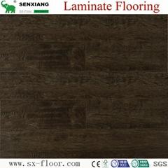 Wood Texture Deep Embossed & Handscraped Parquet Laminated Laminate Flooring