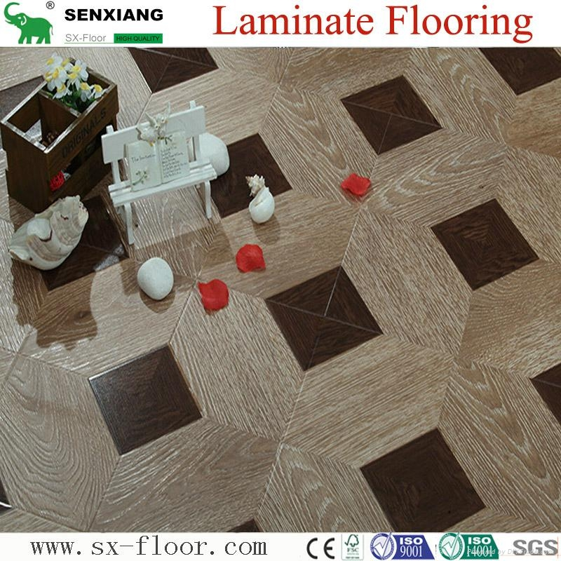 12mm Mdf/hdf Various Art Parquet Laminated Laminate Flooring 1