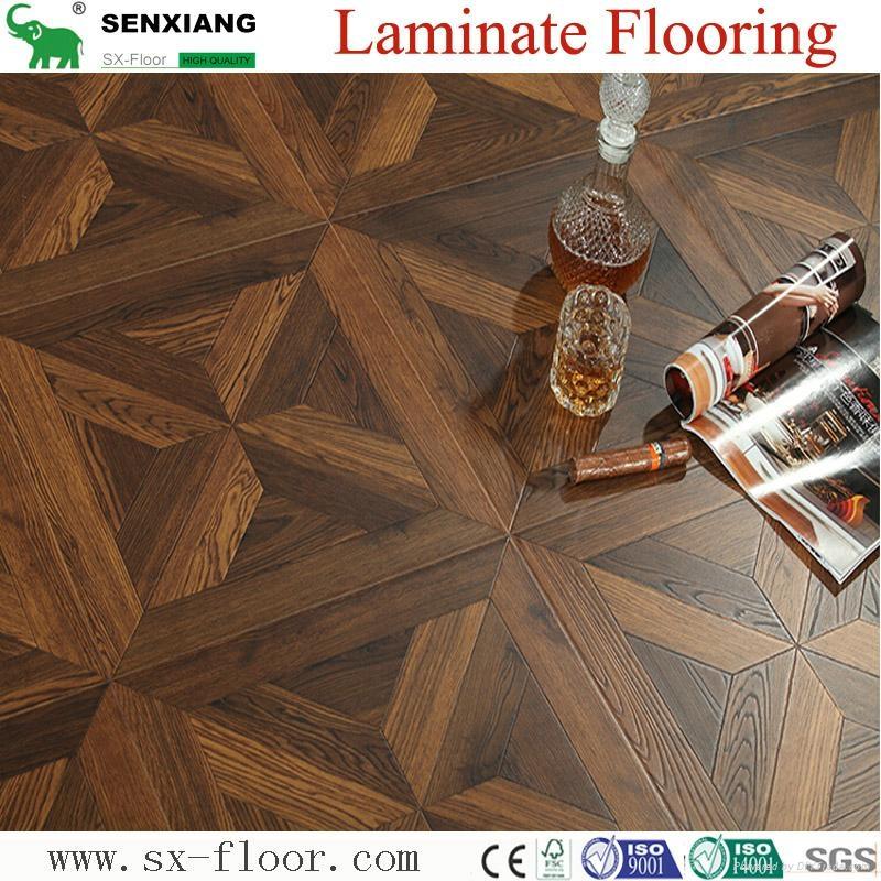 12mm Mdf/hdf Various Art Parquet Laminated Laminate Flooring 2