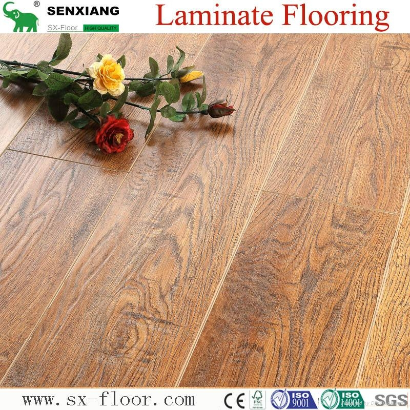German Technology 12mm High Quality Embossed V-groove Laminate Flooring 2