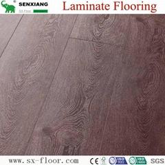 Global Popular Fashion Hardwood V-groove Design Laminated Laminate Flooring