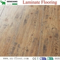 Global Popular Fashion Hardwood V-groove Design Laminated Laminate Flooring 5