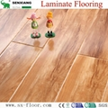 12mm Radiant Brilliance Mirror Wood Surface U-groove Laminated Flooring 5