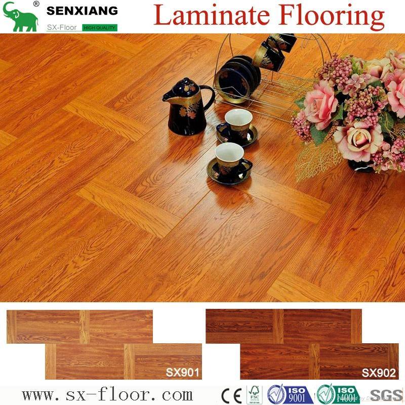 Decoration Art Parquet Wood Laminated Laminate Flooring 2