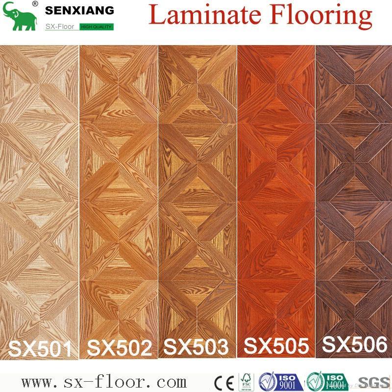 Decoration Art Parquet Wood Laminated Laminate Flooring 5