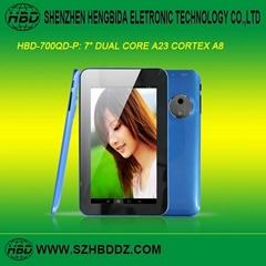 """HBD-700QD-P 7"""" 雙核平板電腦"""