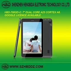 """HBD-700QA 7"""" 雙核平板電腦"""