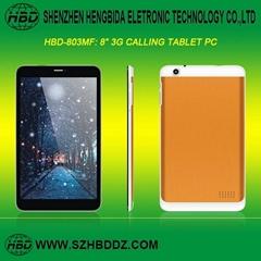 """HBD-803MF 8"""" 四核3G通話平板電腦"""