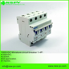 Solar DC Miniature Circuit Breaker 1000VDC MCB