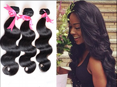 hot selling body wave human hair with dhl shipping natural color brazilian hair