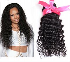 wholesale black color brazilian virgin remy hair false hair,brazilian kinky curl