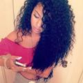 wholesale black color brazilian virgin remy hair false hair,brazilian kinky curl 5
