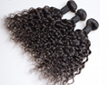 factory price 7A black color brazilian water wave, remy hair ,human hair curtain 3