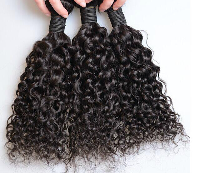 factory price 7A black color brazilian water wave, remy hair ,human hair curtain 4