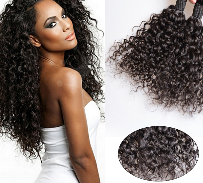 factory price 7A black color brazilian water wave, remy hair ,human hair curtain 1