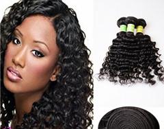 wholesale 6A Brazilian Deep Wave Virgin Hair 100g fatory price