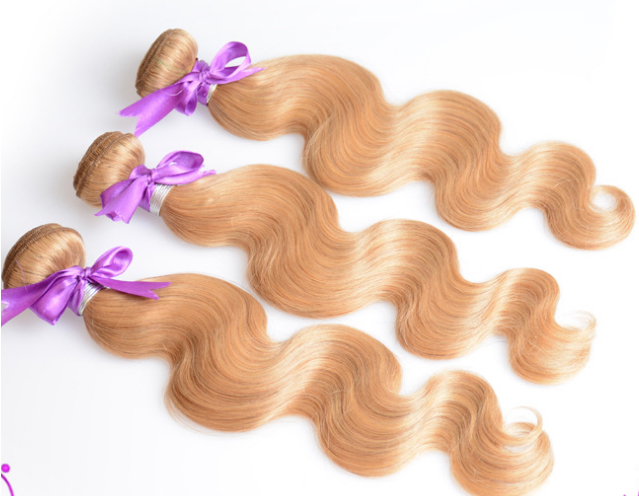 7A quality blond hair N27 color brazilian virgin remy hairbody wave hair curtain 2
