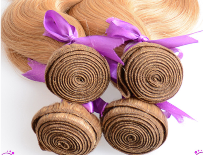 7A quality blond hair N27 color brazilian virgin remy hairbody wave hair curtain 3