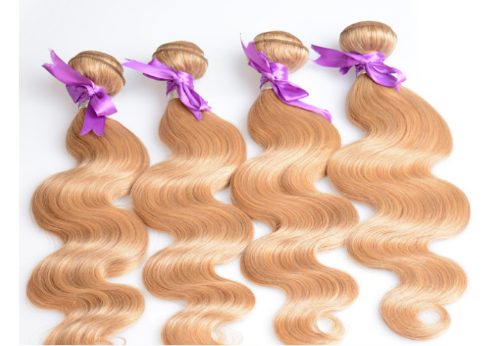 7A quality blond hair N27 color brazilian virgin remy hairbody wave hair curtain 5