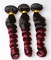 wholesale  wine red loose wave color body wave human hair best price 3