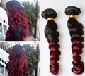 wholesale  wine red loose wave color