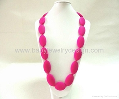 silicone teething necklace wholesale