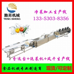 Fruit and vegetable processing equipment, fruit and vegetable sorting cleaning a