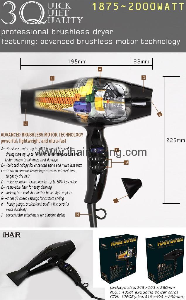 Brushless Ionic Hair Dryer 3q Ihair China