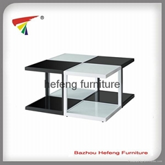 Glass Coffee Table,4 small tables