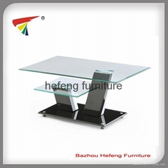 MDF and Tempered Glass Coffee Table